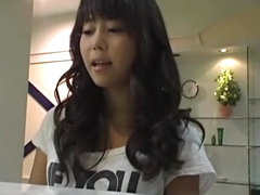 Japanese hottie toyed in oily massage voyeur video