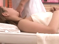 Asian slut plays with a big rod in kinky massage porn movie