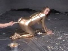 Cora in Gold Paint