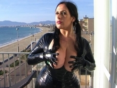 HD Latex Leggins And Suit With Gloves Holiday Oral