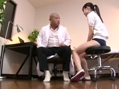 Japanese girl humps and gets a creampie at the end