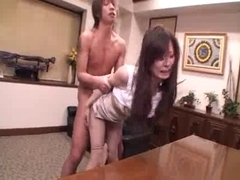 Delicious Japanese MILF fucks and gets a facial