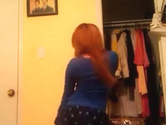 Incredible twerk web camera constricted raiment clip