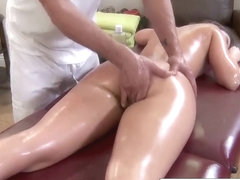 Horny Remy sucks his big cock while being massaged