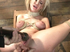 Sexy Blond With Pig Tails, Braces & Big Titsabused Made To Cum With Vibrator & Fingers, Helpless -.