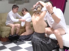 Great school orgy with Jordi and friends