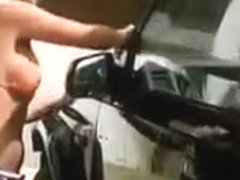 Hot sexy girl with perfect body on the bikini carwash suzuki