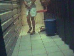 hiddenary fucks a colleague in the storage room