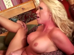 Dylan Riley's boobs bounce and jiggle as she wildly rides a big stick