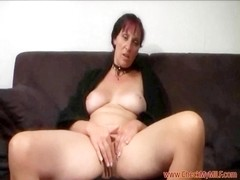 Solo mother I'd like to fuck from CheckMyMILF.com rubbing her love button