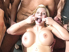 Melanie Moon in Busty German Mom Gangbang Bukkake - MMVFilms