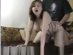 Busty Wife In Corset Rides That Shaft