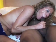 Mature blonde bbc creampie