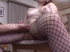 Fabulous Japanese chick in Amazing Fishnet, POV JAV scene