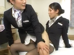 Incredible Japanese chick Maki Sakashita, Maho Sawa, Rina Miue in Crazy Office, Hairy JAV scene
