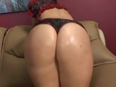 Brunette girl's shaved pussy banged with pure passion