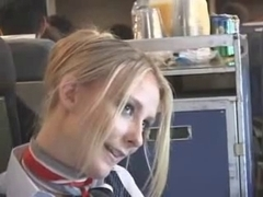 Hot maeshima bends stewardess attendant porn airline