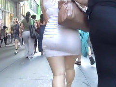 Bootylicious mommy is wearing a transparent skirt