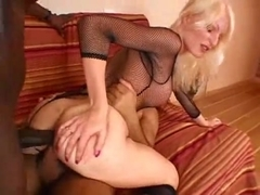Blonde Wife Stretched before Wedding