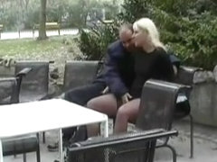 German exhibitionists having public sex