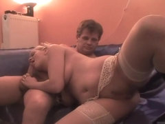 Top Notch Blonde Bends Over the Couch to Get Dicked