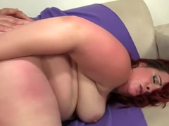 Curvy redhead shows off her amazing oral skills and gets rammed deep