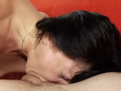 Hot Svetlana Boytsov licks her man's ass and has him banging her peach