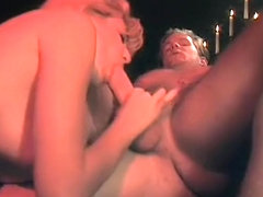 A couple in a sensual lovemaking scene gets peeked on by a pervert