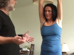 Restrained MILF Jess Scotland dominated and roughly fucked