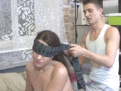 Blindfolded cheating exgf gets drilled