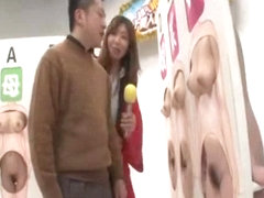 Japanese sex quiz with hot babes getting some