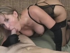 Sexy blonde fucked hard in black lingerie