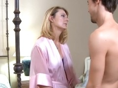 Mature amateur has sex with sons friend
