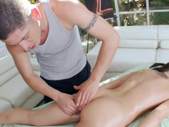 Tight pussy gets a deep rub down and fucking