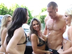Lucky guy is fucking some babes feat. Danny Mountain
