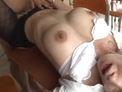 Busty teacher Reiko Kobayakawa´s rough sex with a student