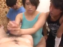 Horny Japanese whore Reiko Nakamori in Crazy Handjobs, Big Tits JAV video