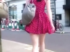 Slow motion upskirt videos of girls in public