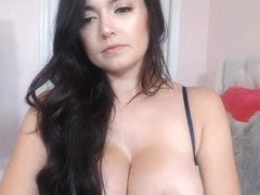 Sweet Big Tits Chick Plays Her Jugs and Cunt