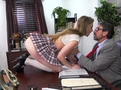 Wild college babe Lena Paul gets naughty with her man