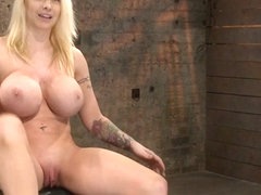 California Blond With Huge Tits Has Them Bound To Her Knees  Spreadmade To Squirt  Scream - HogTied