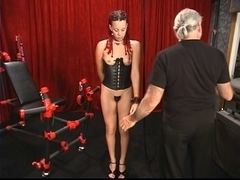 A sexy babe with depraved braids and a partially bald head receives worked over