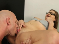 Ashlynn Leigh & Johnny Sins in Naughty Book Worms