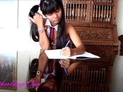 Pussy Thai fucked girls school