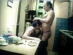 Old Turkish Pair Fucking In Kitchen