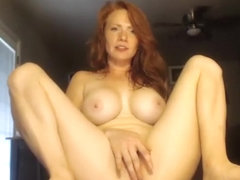 Big boobs redhead banged in the backseat