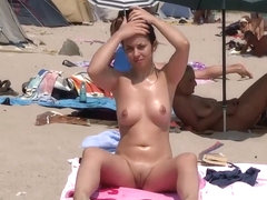 Fuck me pose on nudist beach
