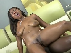 Thick red bony slut Mone Divine gets her cunt shafted by a BBC