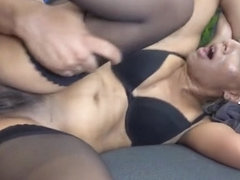 Shaved amateur hardcore and facial cum