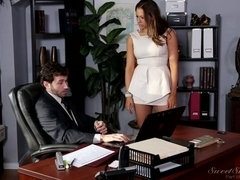 Milf fucked by her boss's throbbing peter in the office